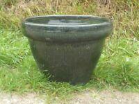 Classic Plant Pot Shaped Green Garden Planter Garden Pot 28cm Tall