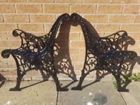 Garden Bench Frames Cast Iron Antique Spares Repair Lions Heads