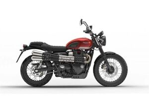 2017 Triumph Street Scrambler Endless Summer $800 Voucher  and O