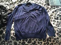 G-Star grandad cardigan blue large size NEW