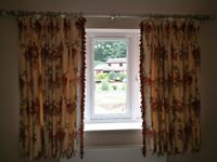 Zoffany Luxury Curtains Bergamo Colour DP12004 with Fringe tassels and Tie Backs