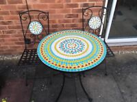 Lovely mosaic garden table and chairs