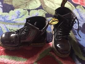 Dr. Martens Brooklee Black Patent Infant UK Size 8
