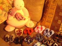 ASSORTED BABY, TODDLER, BOY AND GIRL SHOES $3 EACH LIKE NEW