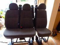 3 Ford Transit backseats