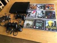 PS3 Consol + 15 Games + 2 Controllers