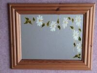 Pine Framed Decorated Mirror
