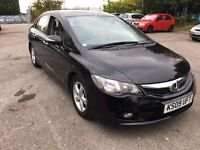 HONDA CIVIC 1.3 ES IMA HYBRID 09(ONE LADY OWNER from new)full Honda history can PCO not Toyota Prius