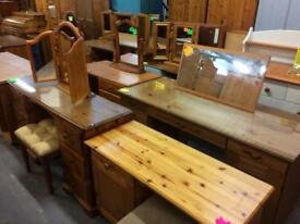 Quality used solid wood / pine dressing tables & more