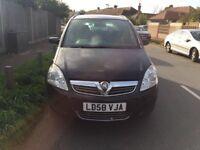 Vauxhall zafira 7 seater for sale, long MOT, service history, drives very good.