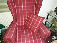 Wingbacked chair