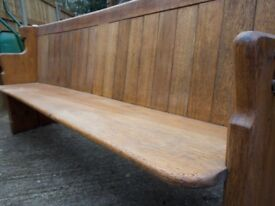 Antique 6' oak church pew - with lots of featured and pedigree
