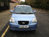 2006 Kia Picanto 1L Blue 5dr Hatchback Manual Petrol MOT Nov2017 full service history 1owner 2keys