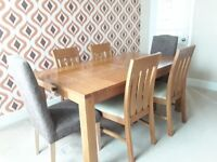 Dinning table ,solid wood , + chairs