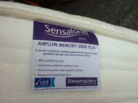 superior single 10 inch deep memory mattress & free 2 drawer base inc delivery(hull & outskirts)