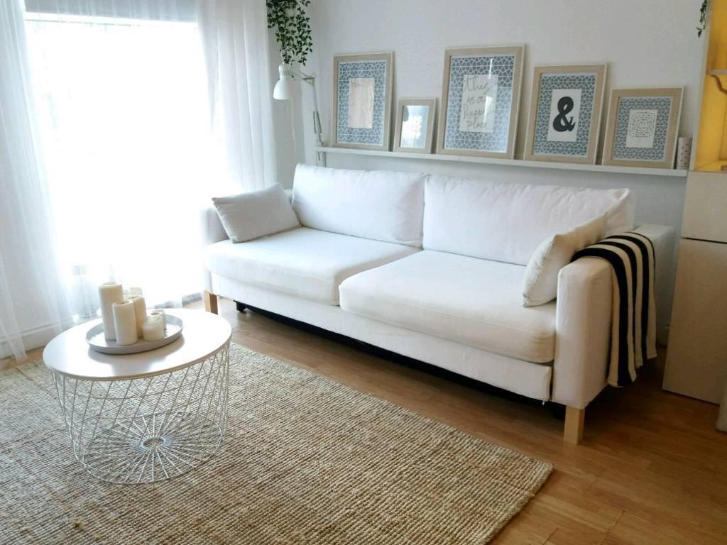 ikea karlstad 3 seater sofa bed with storage  blekinge