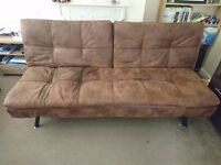 Texas 3 seater faux leather sofa bed