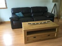 Solid oak coffee table with 2 drawers. Bought from Next.