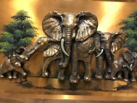 A 3D picture of elephants
