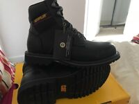 CAT electric steel toe cap boots (size 6)