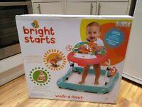 Bright Starts Walkabout Baby Walker - Roaming Safari - NEW