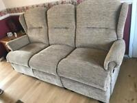 3 seater sofa settee and 2 one seater recliners