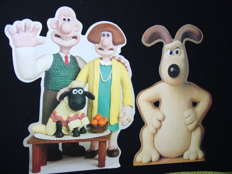 Wallace & Gromit Easel Back Stand Up Cardboard Cutouts Diecut