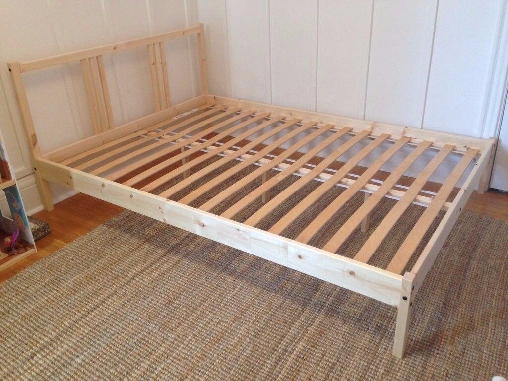 Ikea Fjellse Pine Bed Frame
