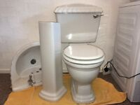 Basin and Toilet in Shell Design Nearly New