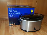 Tesco Slow Cooker 5.5L, Very good condition, almost new, used only twice, unwanted gift, Quick Sale.