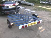 2010 CYCLE TRANSPORTER CAR ROAD TRAILER ( 6 CYCLE CAPACITY )......
