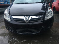 BREAKING - VAUXHALL CORSA D - FRONT BUMPER COMPLETE - BLACK Z2HU - ALL PARTS AVAILABLE