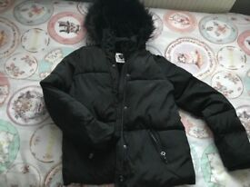 Girls black coat £10