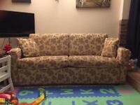3 seater sofa, 3 seater sofa bed and footstool-FREE