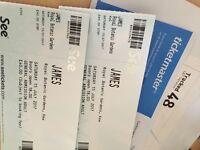 2 x James tickets - Sat 15th July (Kew the music)