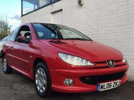 PEUGEOT 206, 2006, RED, DIESEL, MANUAL, 1 PREVIOUS OWNER FROM NEW!!