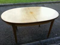 Extendable dining table ideal for DIY restoration or shabby chic or can be used as is - can deliver