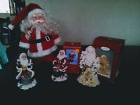 Assortment of Santas