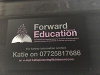 Forward Education Cannock- specialising in 11plus preparation and literacy/numeracy support.