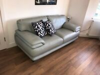 3 Seater Italian Leather Sofa and 2 matching Chairs