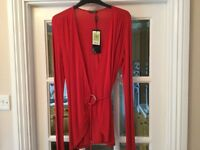 New with tags M & S Autograph Ladies wrap round top Red size 12