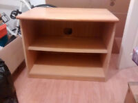 Wooden TC stand and shelving unit