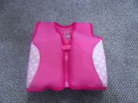 MOTHERCARE GIRLS FLOAT VEST SWIMMING AGE 2 - 3 YEARS SWIM VEST 15 - 18KG - Collection Stourbridge