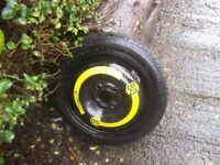 4x100 fit vw renault mini space saver spare wheel