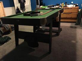 B.C.E (BCE) 6ft Flip up pool table & Darts board