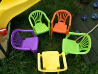 Kids party/garden strong plastic chairs