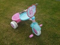 Barbie Trike with detachable parent handle.
