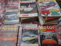 Collection of Vintage Car Magazines (Ranges from 50's to 70's)