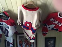 Signed hockey sweaters