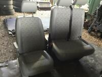 VW T5 Transporter Front Seats Double And Single Drivers Captains